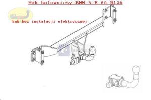 Hak holowniczy BMW 5 E 60, 4drz. od 11.2003 hak automatyczny wypinany poziomo