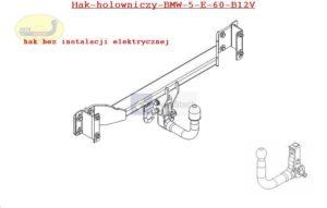 Hak holowniczy BMW 5 E 60, 4drz. od 11.2003 hak automatyczny wypinany pionowo (zamykany na kluczyk)