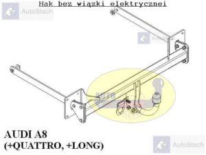 Hak holowniczy AUDI A8 Quattro, również Long od 03.2010