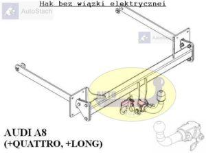 Hak holowniczy AUDI A8 Quattro, również Long od 03.2010 AUTOMAT