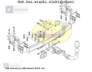 Hak holowniczy Alfa Romeo 145 automat