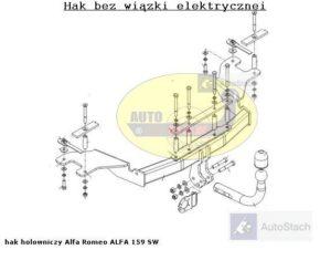 Hak holowniczy Allfa Romeo 159 4 drz. od 2006