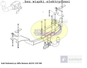 Hak holowniczy Allfa Romeo 159 4 drz. od 2006 AUTOMAT
