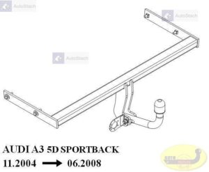 Hak holowniczy AUDI A3 5 drz., Sportback 11.2004 / 06.2008