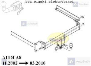 Hak holowniczy AUDI A8 S8 również Quattro 11.2002/03.2010 AUTOMAT
