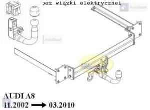 Hak holowniczy AUDI A8 S8 również Quattro 11.2002/03.2010 AUTOMAT VERTICAL