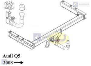 Hak holowniczy AUDI Q5 8R od 2008 AUTOMAT VERTICAL