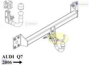 Hak holowniczy AUDI Q7 bez szklanego dachu od 2006 AUTOMAT VERTICAL