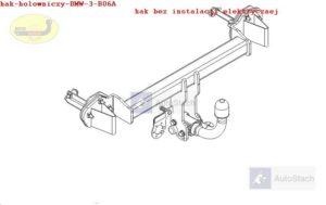 Hak holowniczy BMW 3 E 46, 4 drz. Coupe 04.1998/2005 Hak automatyczny wypinany poziomo