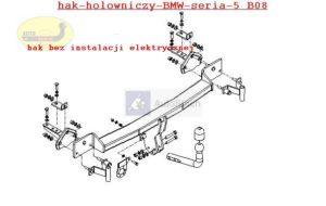 Hak holowniczy BMW5 E 39, 4drz. 12.1995/2001