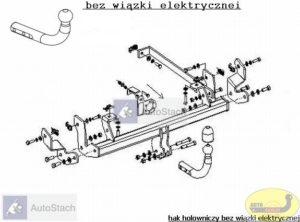 hak holowniczy FIAT ULYSSE 5 drz. VAN (179) 09.2002 / 10.2005