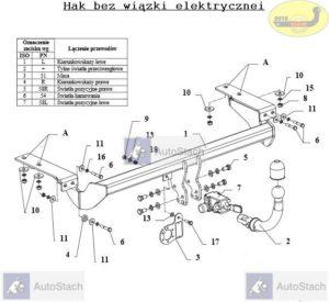 hak holowniczy FIAT ULYSSE 5 drz. VAN (179) 09.2002 / 10.2005 AUTOMAT