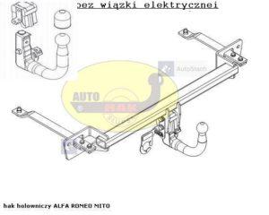 Hak holowniczy Alfa Romeo MITO od 03.2006 Hak automat wypinany pionowo