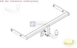 Hak holowniczy AUDI A3 po 09/2013