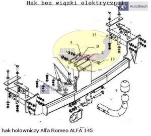 Hak holowniczy Alfa Romeo 145