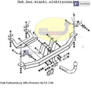 Hak holowniczy Alfa Romeo 146 5 drz. 1995 / 2001