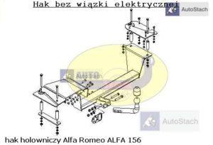 Hak holowniczy Alfa Romeo 156 4 drz. 1997 / 05.2003