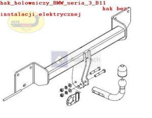 Hak holowniczy BMW 3 E 90, 4 drz oprócz 335i/335d od 03.2005 Hak holowniczy odkręcany