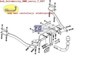 Hak holowniczy BMW 7 E 38, 4 drz. 06.1994/08.2001