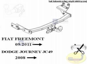 hak holowniczy FIAT FREEMONT SUV, też 4x4 09.2011 / 07.2012 AUTOMAT