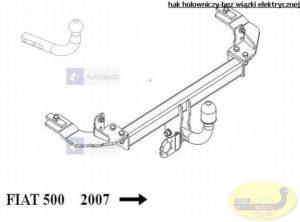 hak holowniczy FIAT 500 3 drz. poza Abarth od 07.2007