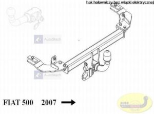 hak holowniczy FIAT 500 3 drz. poza Abarth od 07.2007 AUTOMAT