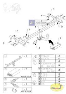 hak holowniczy FIAT 500L 5 drz. od 09.2012 AUTOMAT