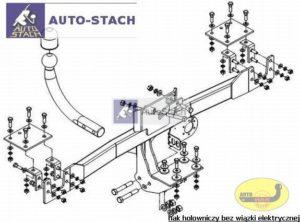 hak holowniczy FIAT BRAVO 3 drz. (182) 09.1995 / 10.2001