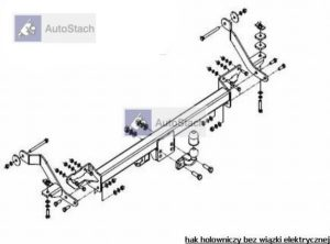 hak holowniczy FIAT DUCATO L1, L2, L3 skrzynia, też wersja po liftingu od 08.2006