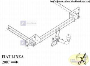hak holowniczy FIAT LINEA 4 drz. od 03.2007