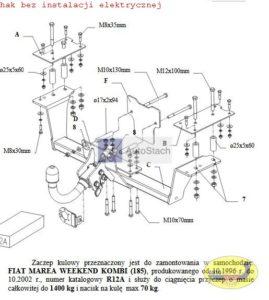 FIAT MAREA - WEEKEND Kombi (185) 10.1996 / 10.2002 AUTOMAT