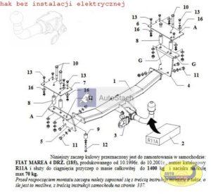 FIAT MAREA 4 drz. (185) 10.1996 / 10.2001 AUTOMAT