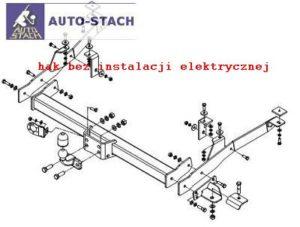 hak holowniczy FIAT DUCATO II zabudowany-blaszak, skrzynia 04.1994 / 06.1999