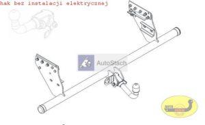 hak holowniczy FIAT FULLBACK Pick up, 4 WD od 2016 AUTOMAT