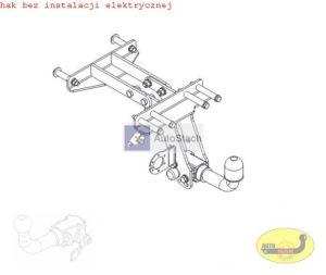 hak holowniczy FIAT STRADA Pick-up od 06.1999 AUTOMAT