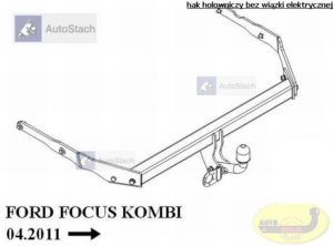 hak holowniczy FORD FOCUS III Turnier Kombi (Mk3) od 03.2011, poza ST