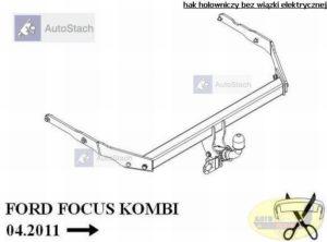 hak holowniczy FORD FOCUS III Turnier Kombi (Mk3) od 03.2011, poza ST AUTOMAT