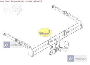 hak holowniczy FORD GALAXY III 5 drz. (Mk3), VAN, też (7 osobowy) 07.2006 / 2015 AUTOMAT