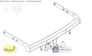 hak holowniczy FORD GALAXY 5 drz (Mk2), VAN, też 4x4 06.2000 / 06.2006 AUTOMAT