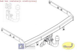hak holowniczy FORD GALAXY 5 drz (Mk2), VAN, też 4x4 06.2000 / 06.2006 AUTOMAT VERTICAL