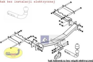 hak holowniczy FORD MONDEO 4/5 drz Mk2 09.1996 / 10.2000 poza ST 200 i RS