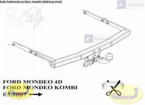 hak holowniczy FORD MONDEO Kombi Mk4 05.2007 / 09.2014 AUTOMAT