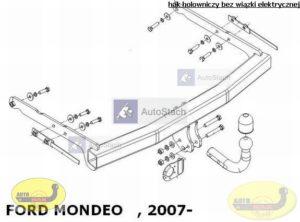 hak holowniczy FORD MONDEO 5 drz Mk4 05.2007 / 09.2014