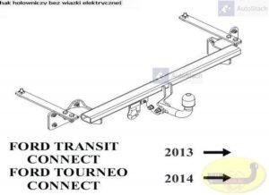 hak holowniczy FORD TRANSIT TOURNEO CONNECT od 01.2014 dostawczy, VAN