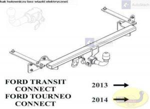 hak holowniczy FORD TRANSIT TOURNEO CONNECT 01.2014 dostawczy, VAN od AUTOMAT